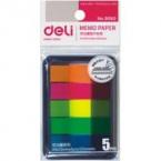 giấy note 5 màu nhựa deli 9060